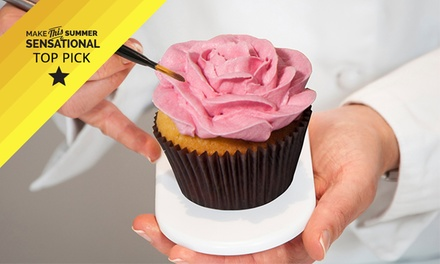 Cupcake Masterclass for One ($59) or Two People ($115) with The Classic Cupcake Co., Mosman (Up to $300 Value)