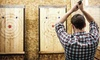 Axe Throwing Session for Ten People at 1.5-Hour Private Lane
