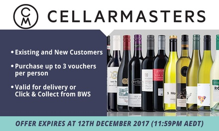 Cellarmasters: $10 to Spend Online Min. Spend $190 Existing & New Customers