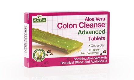Up to 180 Optima Aloe Vera Colon Cleanse Advanced Tablets