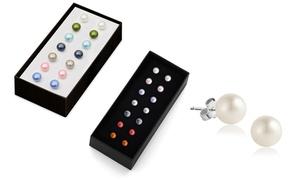 (Bijou)  Coffret boucles d'oreilles perles -93% réduction