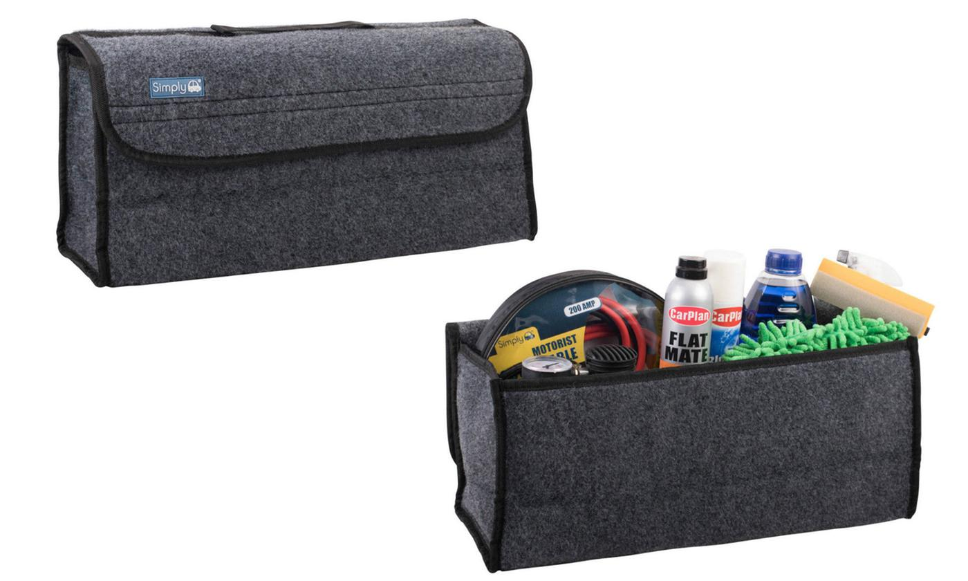 One or Two Car Boot Storage Bag Organisers
