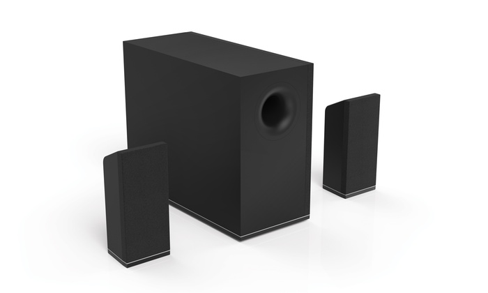 sound system with bluetooth. vizio 5.1-channel bluetooth wireless sound system with subwoofer (manufacturer refurbished)