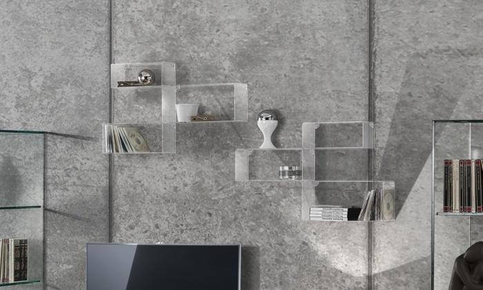 Set di 3 cubi realizzati in acrilico trasparente Angel Sconto: 72%
