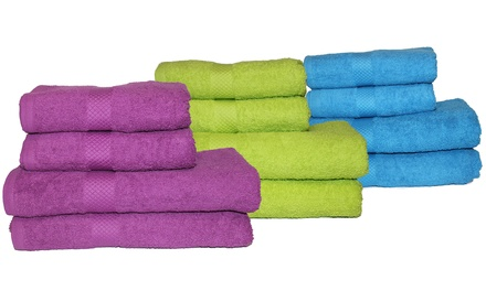 Lot de 2, 3 ou 5 serviettes de bains, coloris et tailles au choix, dès 11,99 €