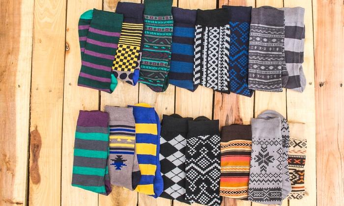 Muk Luks Men's Patterned Socks (9-Pairs)