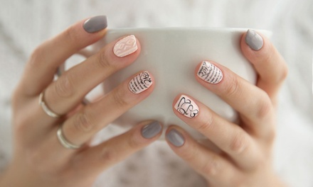 Manicure and Luxury Pedicure at V'Dazzled Nail Spa & Boutique (Up to 51% Off). Four Options Available.