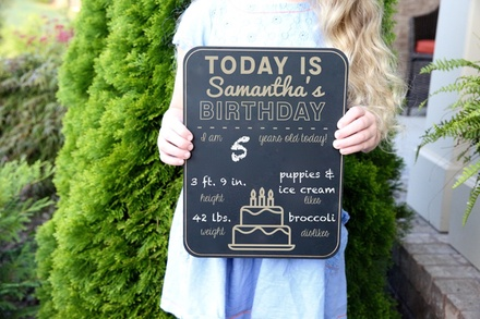 Personalized Chalkboard Photo Prop