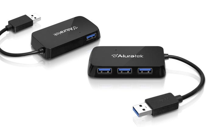 Aluratek 4-Port USB 3.0 Hub - Abilene, TX: Aluratek 4-Port USB 3.0 Hub (AUH2304F).