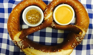 Das Biergarten: Pair of One-Liter Beers With Giant Das Pretzel or Pair of Two-Liter Boots and Two Giant Das Pretzels at Das Biergarten