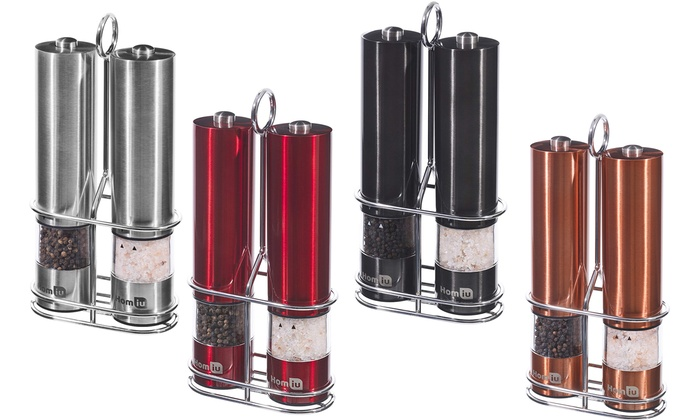 Electric Salt and Pepper Mill Set, Stand or Both from £3.19