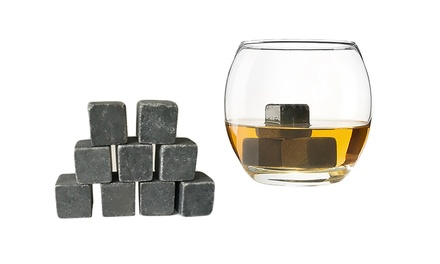 Whisky Stones Set with Pouch: 9- ($9.95), 18- ($16.95) or 36-Piece ($25)