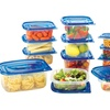 Reusable Plastic Food Storage Container Set (30- or 50-Piece)