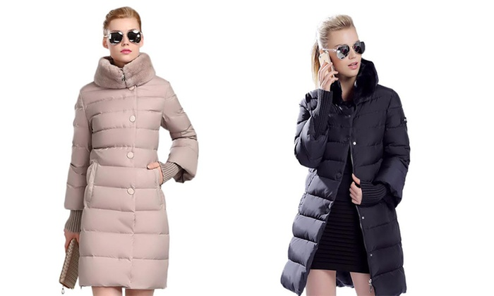 ff9621443 Up To 60% Off on Women's Long Puffer Jacket | Groupon Goods