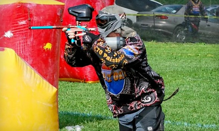 i70 Paintball - Huber Heights: Paintball Party for Up to Four or Paintball Outing for One with Equipment Rental at i70 Paintball (Up to 80% Off)