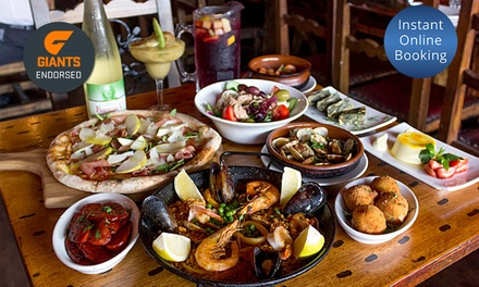 $49 for $100 to Spend on Food and Drink at Spanish Tapas Restaurant, Glebe