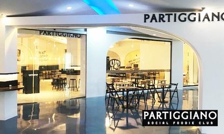 Menú italiano para 2 o 4 personas con entrante, principal, postre y bebida desde 19,90 € en Partiggiano Heron City