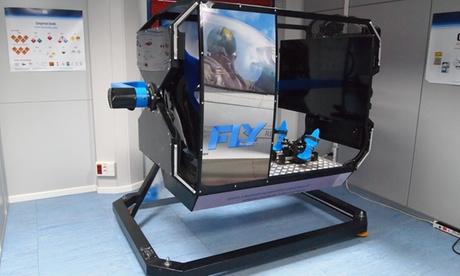 15 o 30 minutos de simulador de vuelo caza con movimiento real desde 24,95 € en Cinetic Plus