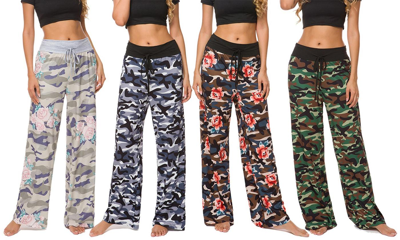 Lilly Posh Camouflage and Floral Pants. Plus Sizes Available.