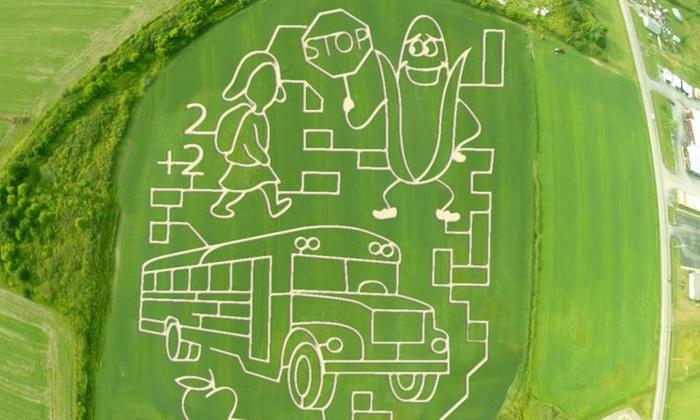 Cambria Corn Maze - Irvington Creekside: Cambria Corn Maze for Two, Four, or Six (50% Off)