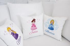 4MyArt.pl: Personalizowana poszewka na poduszkę dla dziewczynek (od 9 zł) z antyalergiczną poduszką (od 15 zł) w sklepie 4MyArt.pl