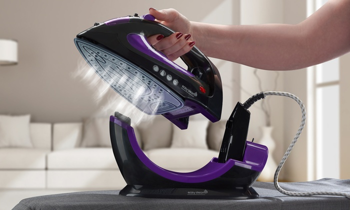 Cordless Steam Iron ~ Cordless or corded steam iron groupon