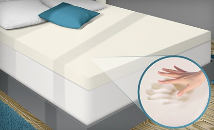 PuraSleep 3-Inch Memory-Foam Mattress Topper (Up to 59% Off). Six Sizes Available. Free Shipping.