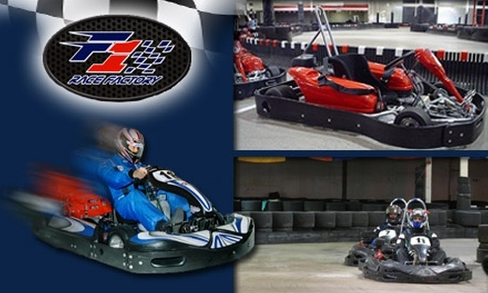 F1 Race Factory - Camelback East: $33 for Three Kart Races at F1 Race Factory (Up to $69 Value)