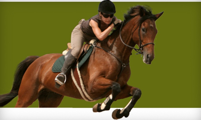 Bel Canto Farms - Wimberley: $48 for a Horseback-Riding Lesson for Two at Bel Canto Farms in Wimberley (Up to $130 Value)