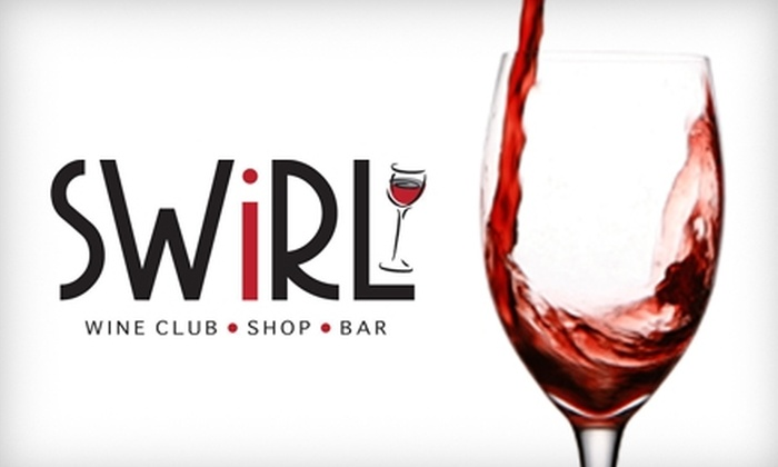 Swirl Wine Shop & Bar - Multiple Locations: $25 for a One-Month Membership to Swirl Wine Shop & Bar and $50 Gift Certificate at R.F. Moeller Jeweler ($86 Total Value)