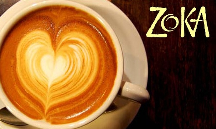 Zoka Coffee Roaster & Tea Company: $15 for $35 Worth of Coffee and Tea Products from Zoka Coffee Roaster & Tea Company's Online Store