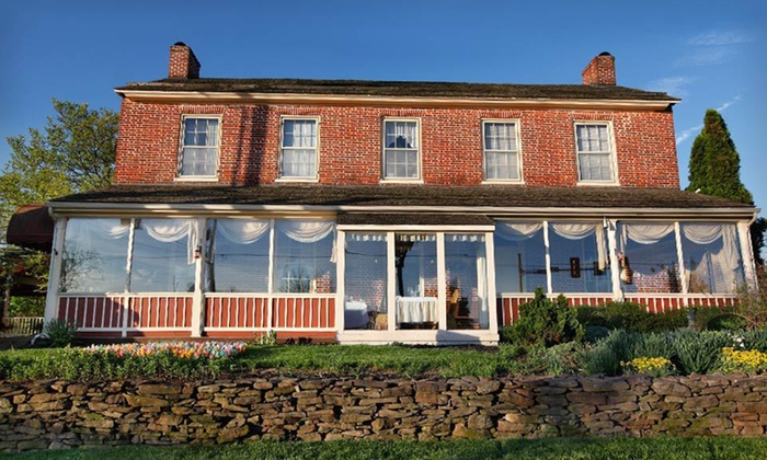 Inn at Herr Ridge - Gettysburg, PA: Two-Night Stay with Dining Credit, Fruit, Champagne, and Souvenir Mugs at Inn at Herr Ridge in Gettysburg, PA