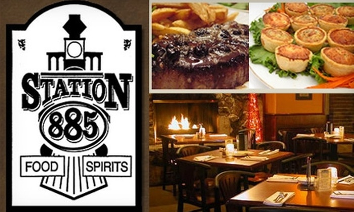 Station 885 - Plymouth: $15 for $35 Worth of Neighborhood Grill Fare and Drinks at Station 885