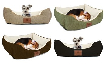 American Kennel Club Box Weave Design Cuddler Pet Bed