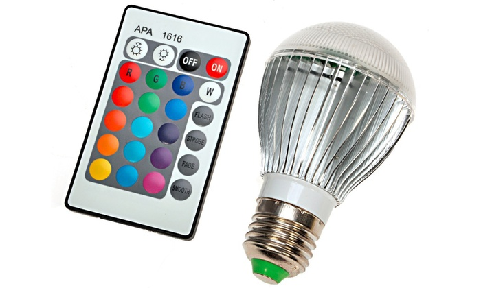 Color-Changing LED Light Bulb with Remote Control