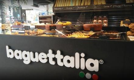 Menú de pizza con bebida y opción a pasta desde 8,90 € en Baguettalia