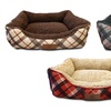 AKC Plaid Cuddler Pet Bed
