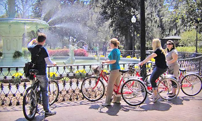 Savannah Bike Tours - Savannah: $20 for a Bike Tour with Bike and Helmet Rentals for Two from Savannah Bike Tours ($40 Value)