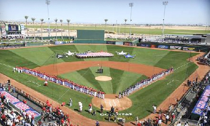 Goodyear Ballpark - Goodyear: $15 for Two Outfield Box Seats and a Parking Pass at the Cleveland Indians Versus Cincinnati Reds Spring Training Game on Sunday, February 27 at Goodyear Ballpark ($41 value)
