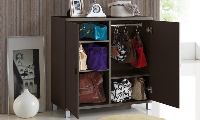 Merveilleux ... Wood Entryway Handbag And Bookbag Storage Cabinet