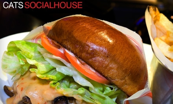 Cats Socialhouse - Fairview: $15 for $30 Worth of Casual Fare and Drinks at Cats Socialhouse