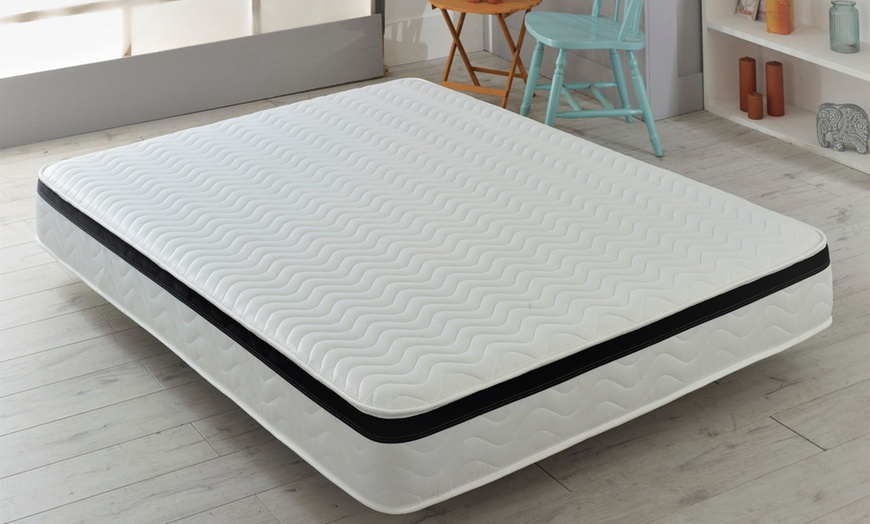 Wavy Memory Fibre Faux Pillow Top Mattress from £59 (57% OFF)