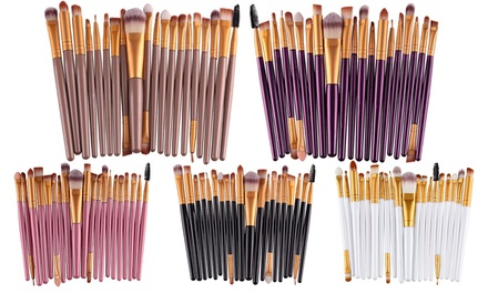 Up to Five 20Piece MakeUp Brush Sets