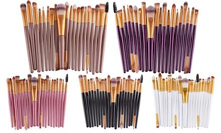 Up to Five 20Piece MakeUp Brush Sets