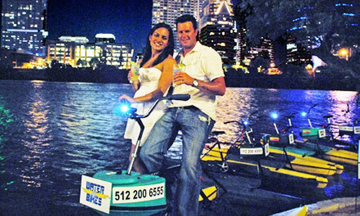 Austin Water Bikes - Bouldin: $30 for a One-Hour Moonlight Water-Bike Rental for Two from Austin Water Bikes (Up to $60 Value)