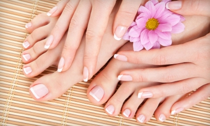 Shey Salon and Spa - West Omaha: $40 for Spa Mani-Pedi at Shey Salon and Spa ($100 Value)