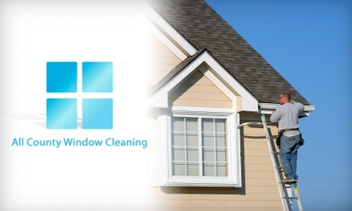 All County Window Cleaning - North Jersey: $75 for a Gutter Cleaning from All County Window Cleaning ($200 Value)