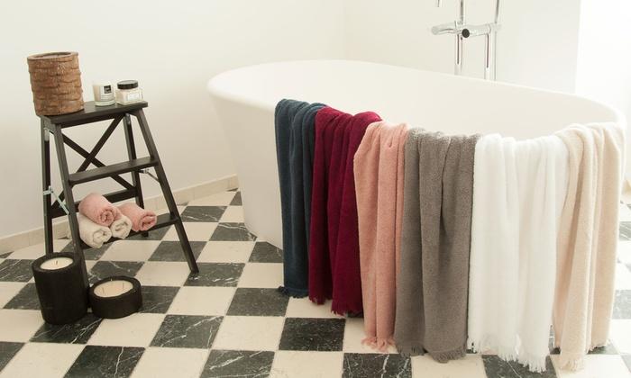 Lot de 2 serviettes de bain groupon - Lot de serviette de bain destockage ...