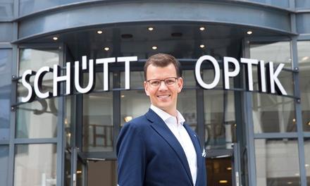 Wertgutschein über 50, 100, 200 oder 300 € anrechenbar auf verschiedene Brillen und Gläser nach Wahl bei Schütt Optik