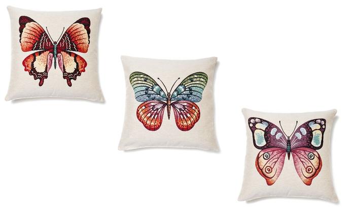 Kissenbezug mit Schmetterling im Design nach Wahl